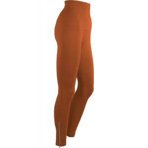 Magic Tummy Control SmoothWear Leggings Paprika with Calf Zippers -