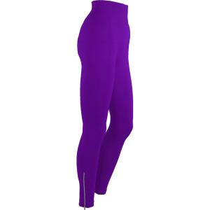Magic Tummy Control SmoothWear Leggings Purple with Calf Zippers -