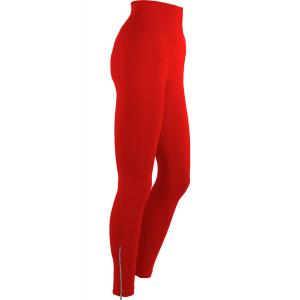Magic Tummy Control SmoothWear Leggings Red with Calf Zippers -