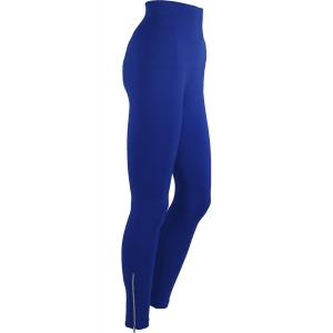 Magic Tummy Control SmoothWear Leggings Royal Blue with Calf Zippers -