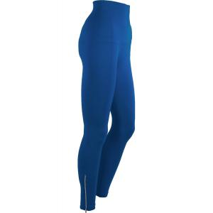 Magic Tummy Control SmoothWear Leggings Teal Blue with Calf Zippers -