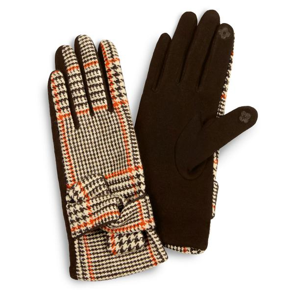 Touch Screen Smart Gloves - Fleece Lined  3530 - Brown -