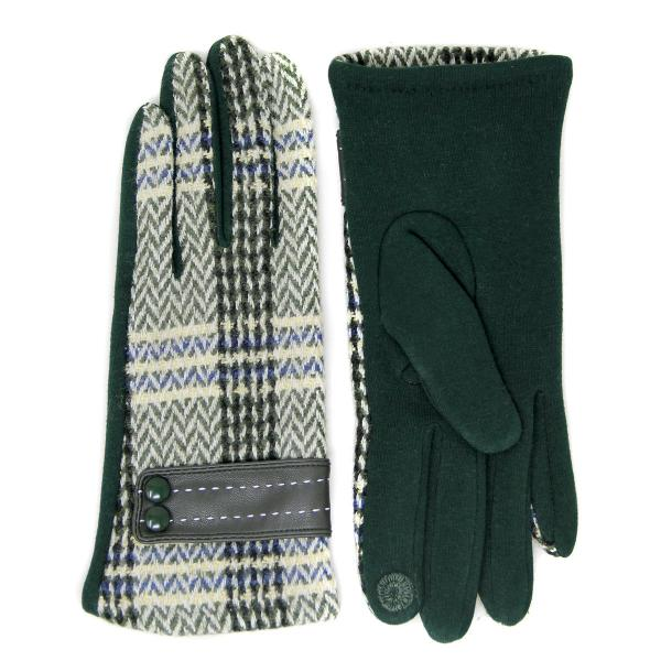 Touch Screen Smart Gloves - Fleece Lined  LOG117 Olive -