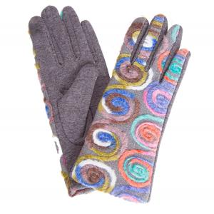 570 Spiral Yarn Design Smart Gloves (Multi Color w/ Grey Palms) - One Size