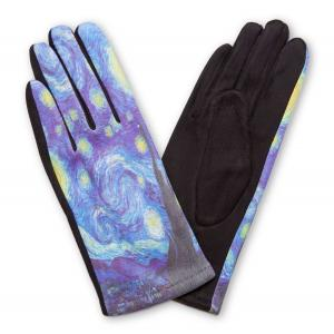 858 Art Inspired Smart Gloves (Inspired by Starry Night - Van Gogh) - One Size