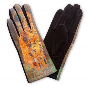 858 Art Inspired Smart Gloves (Inspired by The Kiss - Gustav Klimt) - One Size