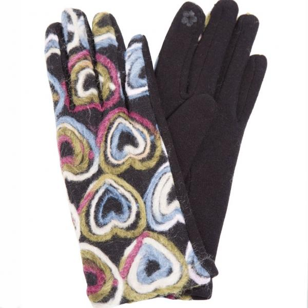 Touch Screen Smart Gloves - Fleece Lined  849-MT Spiral Yarn Mint - One Size