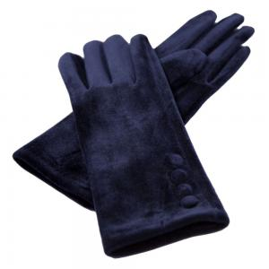 Wholesale  JG595 NAVY Velour with Buttons -