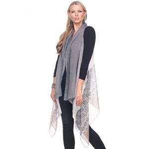Scarf Vests - Gradient Lace Print 1262 Beige Accent -