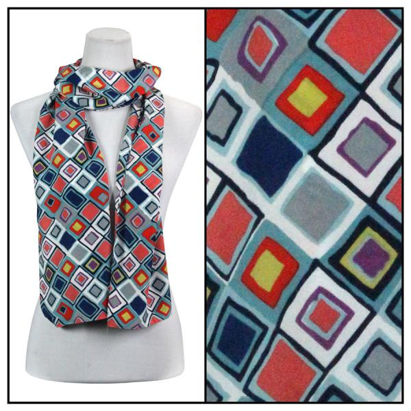 wholesale Oblong Scarves - Charmeuse* Geometric 3158 - Blue -