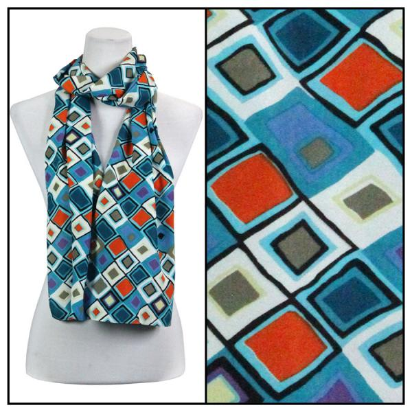 wholesale Oblong Scarves - Charmeuse* Geometric 3158 - Turquoise -