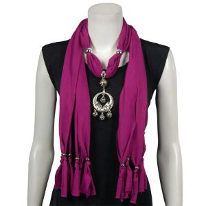 wholesale Jersey Knit Pendant Scarves Dreamcatcher Pendant - Orchid -