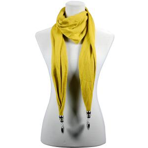 wholesale Fob Pendant Scarves Etched Heart - Mustard -