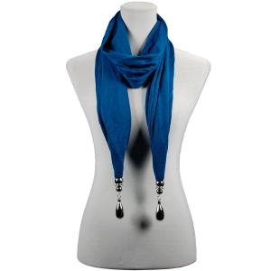 wholesale Fob Pendant Scarves Hanging Teardrop - Teal -