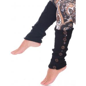Wholesale  Black Six Button Leg Warmer 5090 -