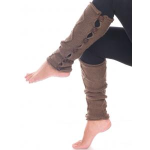 Wholesale  Taupe-Brown Six Button Leg Warmer 5090 -