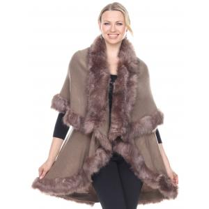 wholesale Cape Vests - Fur JP216 Khaki -
