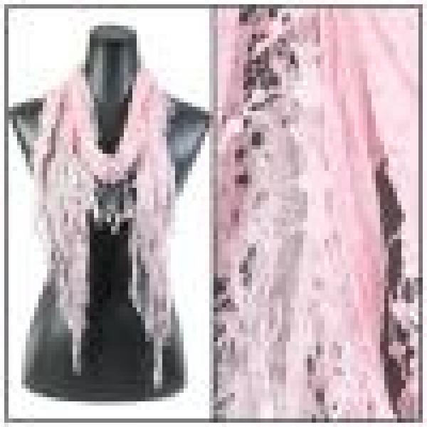 Oblong Scarves - Victorian Lace Confetti Light Pink #4 -