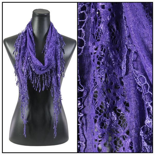 Oblong Scarves - Victorian Lace Confetti Royal Purple #27 -