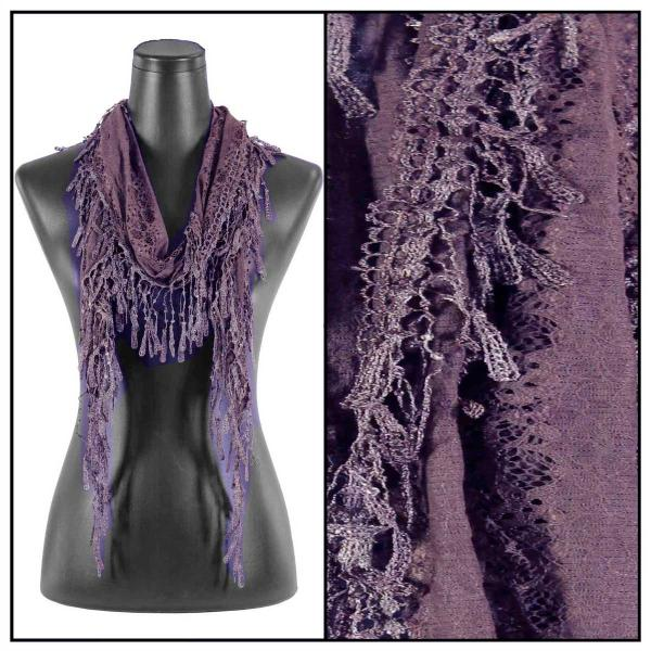 Oblong Scarves - Victorian Lace Confetti Dusty Purple #25*  -