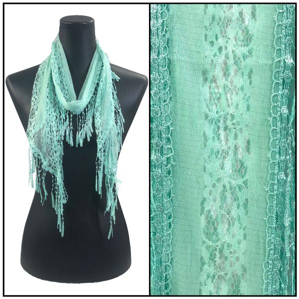 Oblong Scarves - Victorian Lace Confetti Mint #44 -
