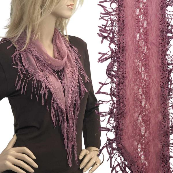 Oblong Scarves - Victorian Lace Confetti Dusty Pink #50 -