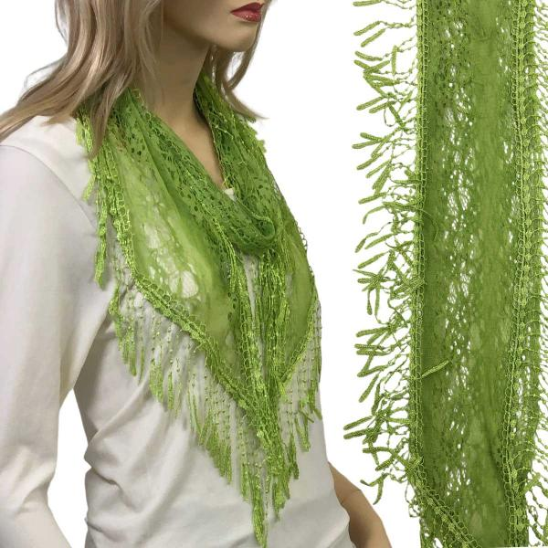 Oblong Scarves - Victorian Lace Confetti Lime #43 -