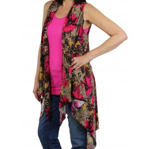 Vests - Spandex Blend (Style 2) SN114 - Fuchsia (MB) -