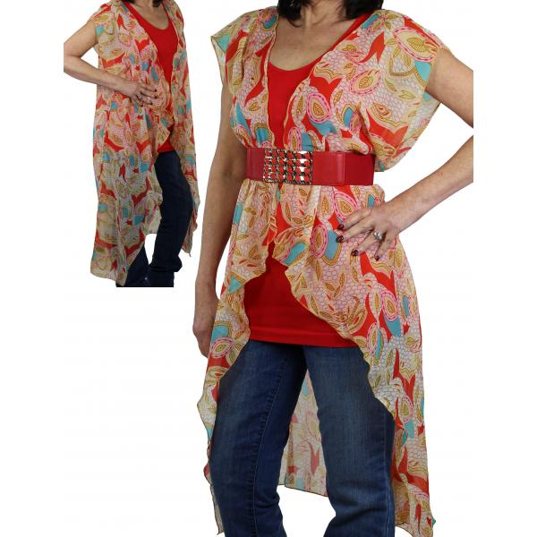 Vests - Chiffon Duster 1124, 1125, & 1127 1124 Red -