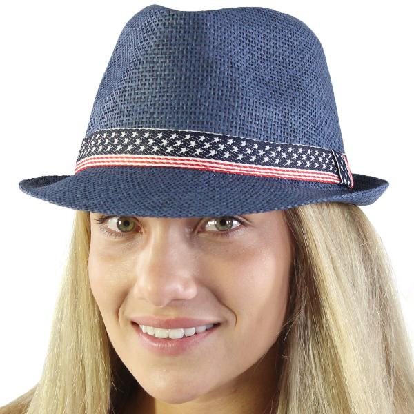 Summer Hats 115 Fedora - Navy -