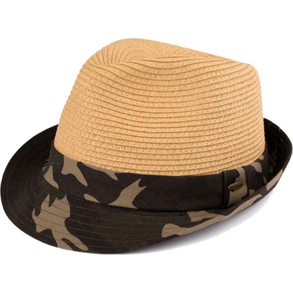 Summer Hats 105 Fedora Army Print - Natural -