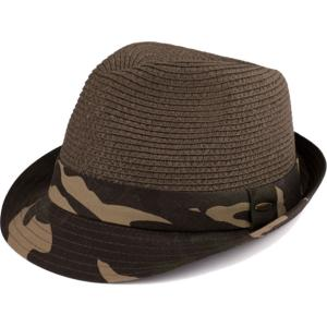 Summer Hats 105 Fedora Army Print - Olive -