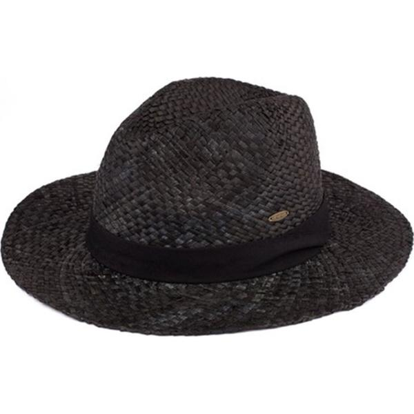 Summer Hats 010 Raffia Panama - Black -