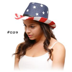 Wholesale  029 USA Cowboy Summer Hat - One Size Fits All