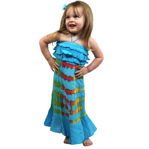 wholesale Dresses - Kids Size #4696 Sky Blue - M