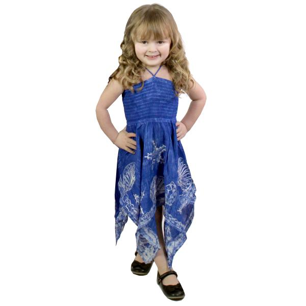 wholesale Dresses - Kids Size #4683 Blue - S