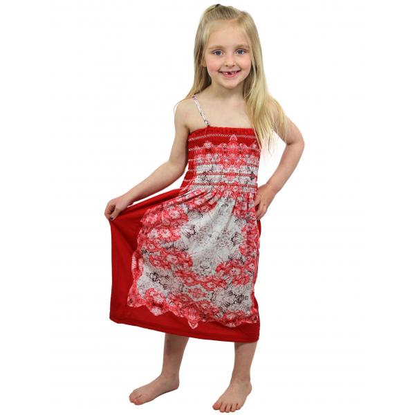 wholesale Dresses - Kids Size #812 Red - S