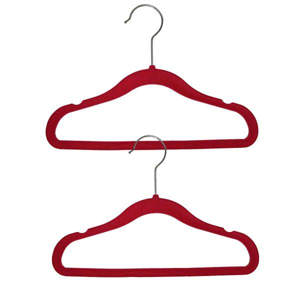 wholesale Dresses - Kids Size Pink Childrens Velvet Hangers -