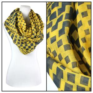 Wholesale  Geometric Square 3608 - Yellow Cotton Feel and Infinity -