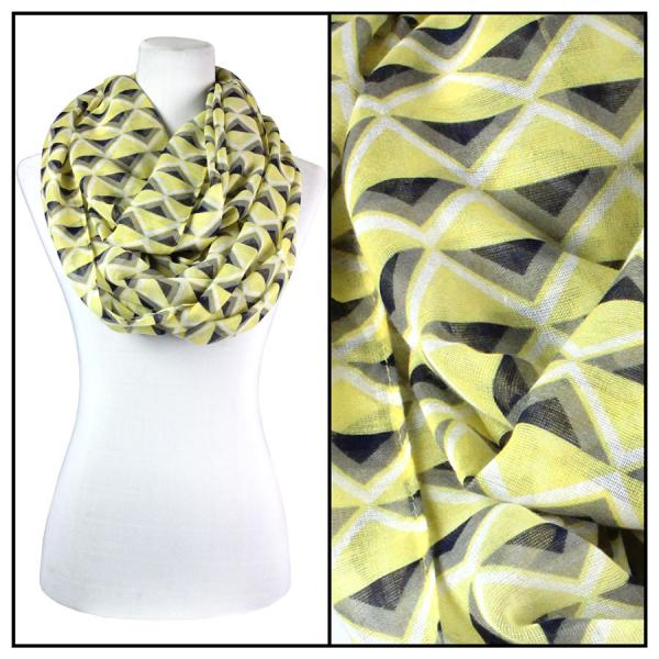 wholesale Cotton Feel and Jersey Knit Summer Infinities Geometric Chevron 3737 - Yellow -