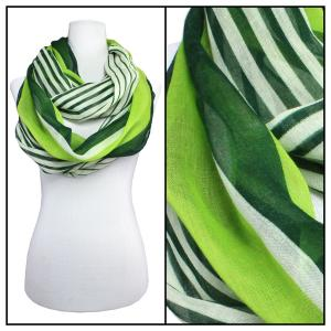 Wholesale  Multi Stripes 3328 - Green Cotton Feel Summer Infinitiy -