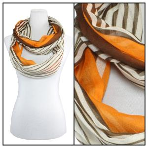Wholesale  Multi Stripes 3328 - Orange Cotton Feel Summer Infinitiy -