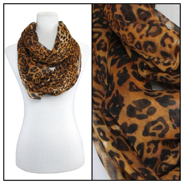 wholesale Cotton Feel and Jersey Knit Summer Infinities Cheetah 3274 - Brown -