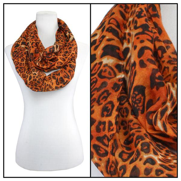 wholesale Cotton Feel and Jersey Knit Summer Infinities Cheetah 3274 - Orange -