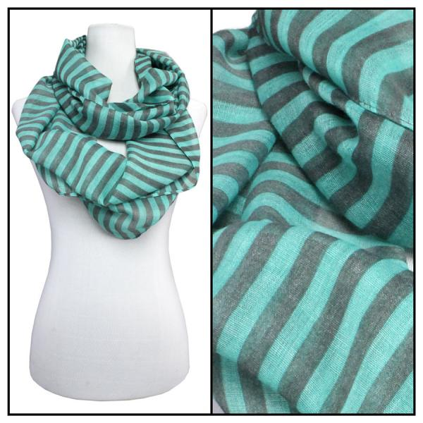 wholesale Cotton Feel and Jersey Knit Summer Infinities Striped 3329 - Mint -