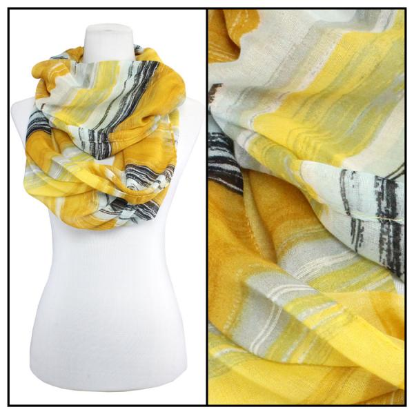 wholesale Cotton Feel and Jersey Knit Summer Infinities Watercolor Stripes 3262 - Mustard -