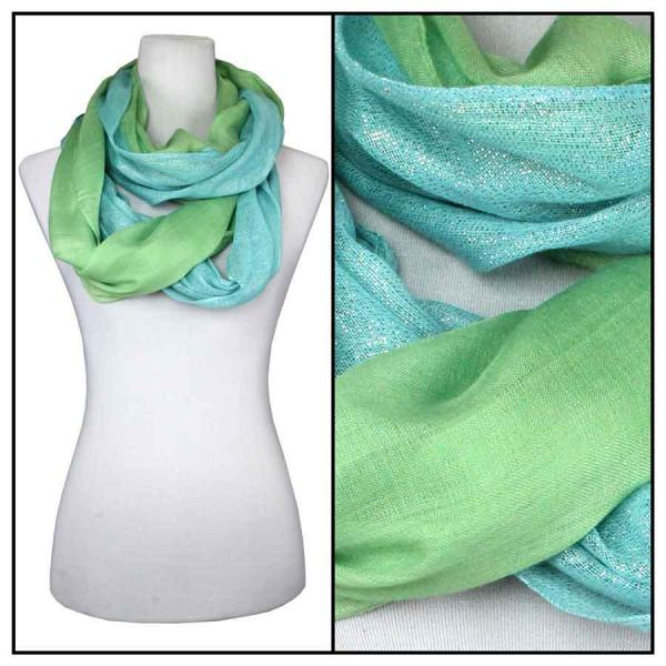 wholesale Cotton Feel and Jersey Knit Summer Infinities Double Glitter 103 - Green Apple -