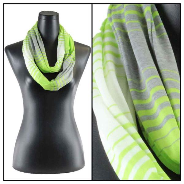 wholesale Cotton Feel and Jersey Knit Summer Infinities Jersey Color Stripe 8298 Green -