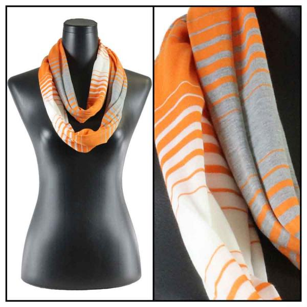wholesale Cotton Feel and Jersey Knit Summer Infinities Jersey Color Stripe 8298 Orange -