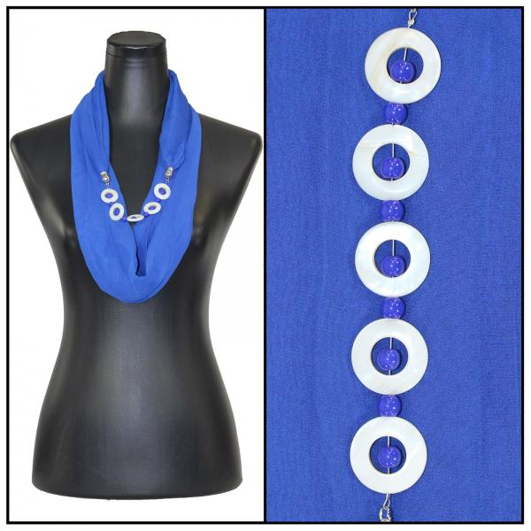 Jewelry Infinity Silky Dress Scarves 8011 - Solid Royal Jewelry Infinity Silky Dress Scarves -